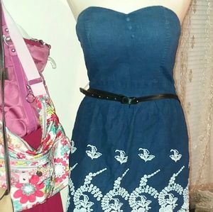 Charlotte Russe size med strapless mini dress